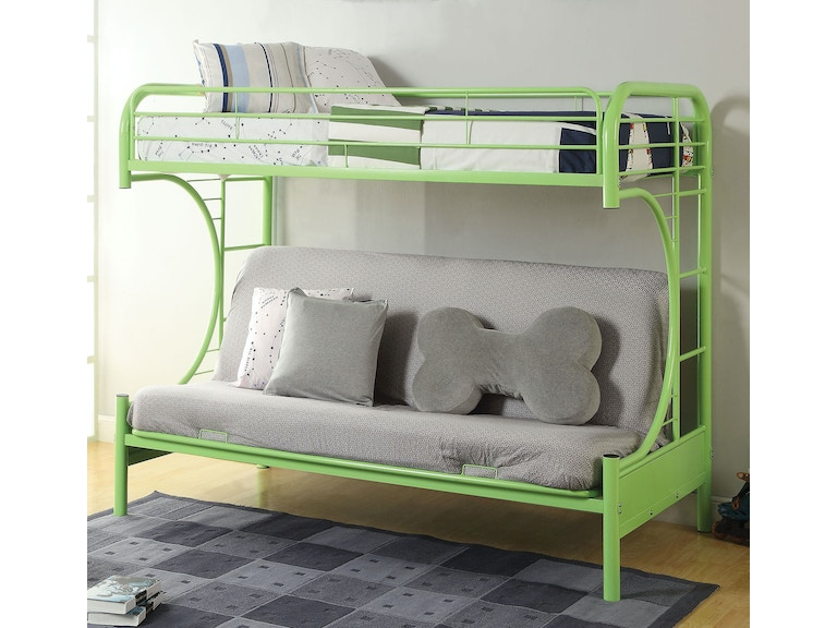 Acme Furniture Youth Eclipse Twin Over Full Futon Bunk Bed 02091w Gr