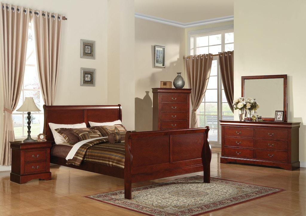 Acme Furniture Bedroom Louis Philippe III Queen Bed 19520Q - Gallery ...