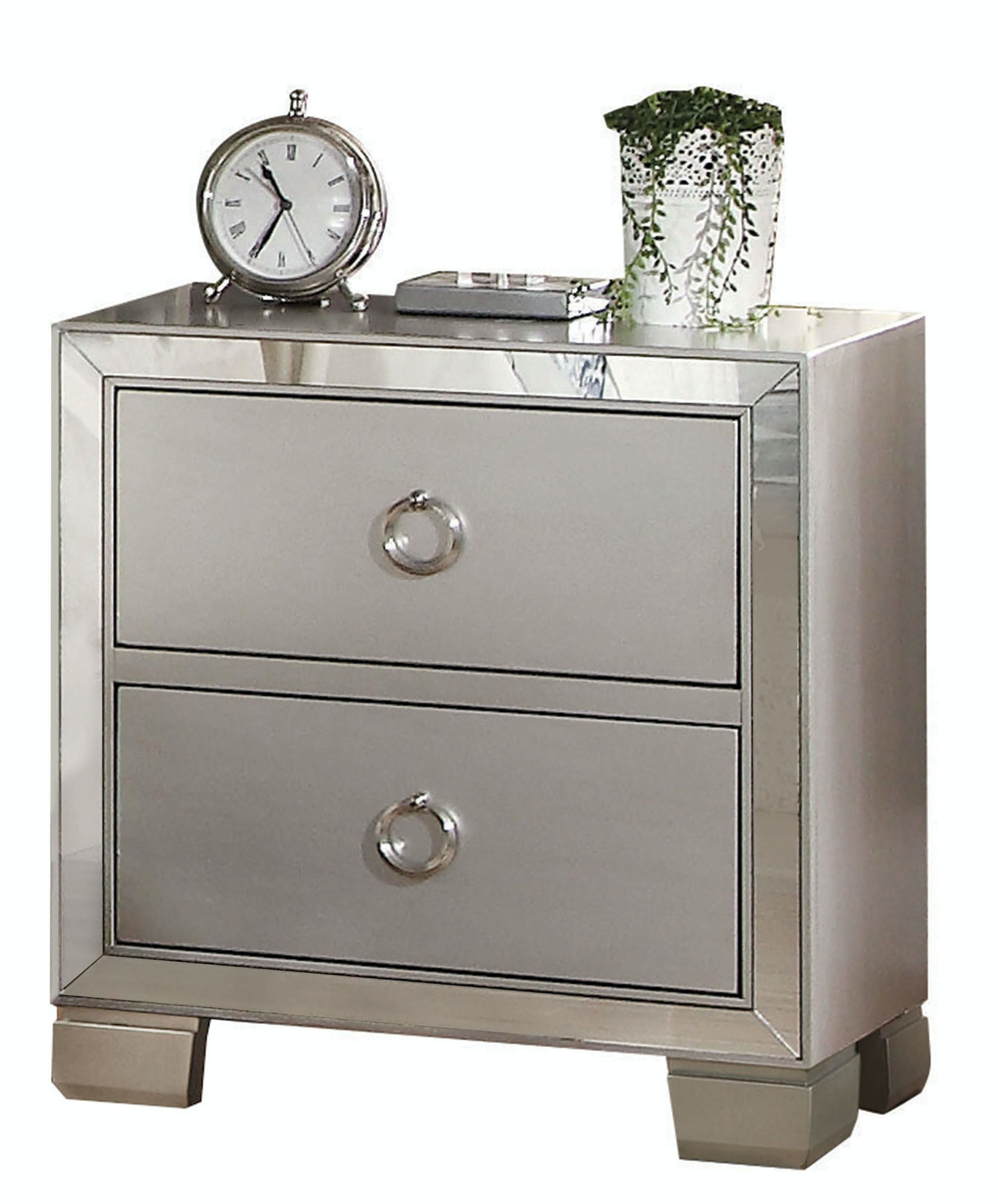 Acme Furniture Bedroom Voeville II Nightstand 24843   Simply Discount  Furniture   Santa Clarita And Valencia, CA