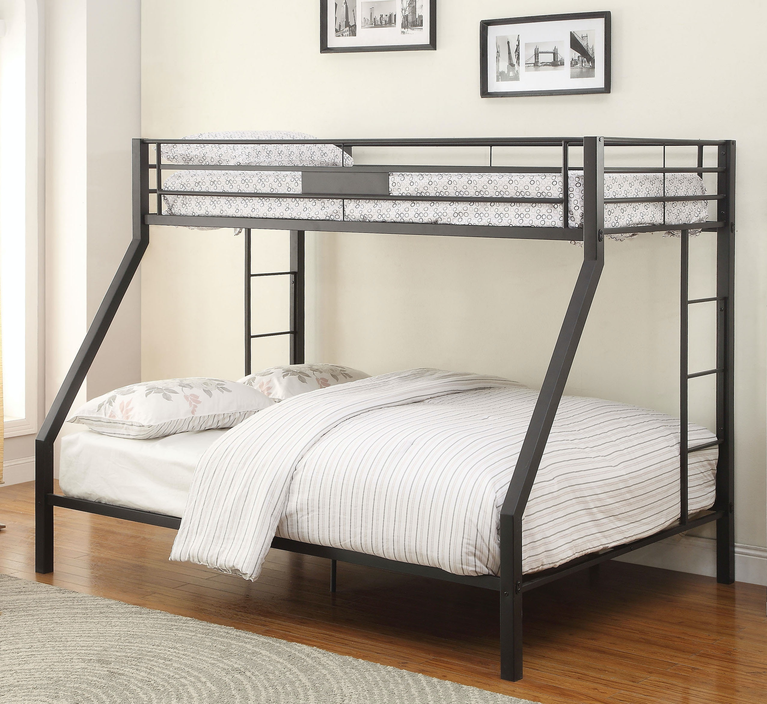 Acme Furniture Youth Limbra Twin Xl Over Queen Bunk Bed 38000 Hi