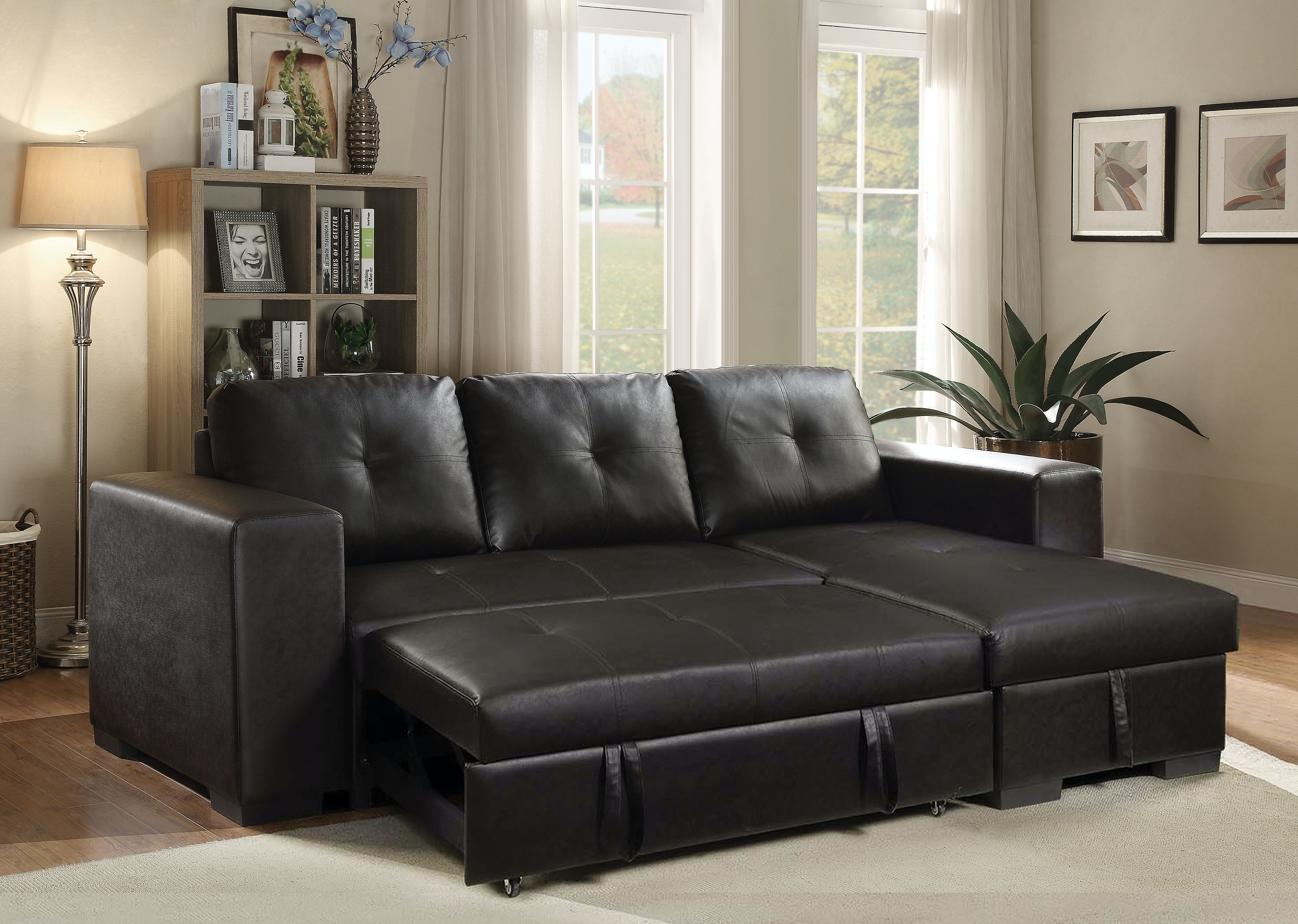 Captivating Acme Furniture Living Room Lloyd Sectional Sofa With Sleeper 53345   Hi  Desert Furniture   Victorville, CA