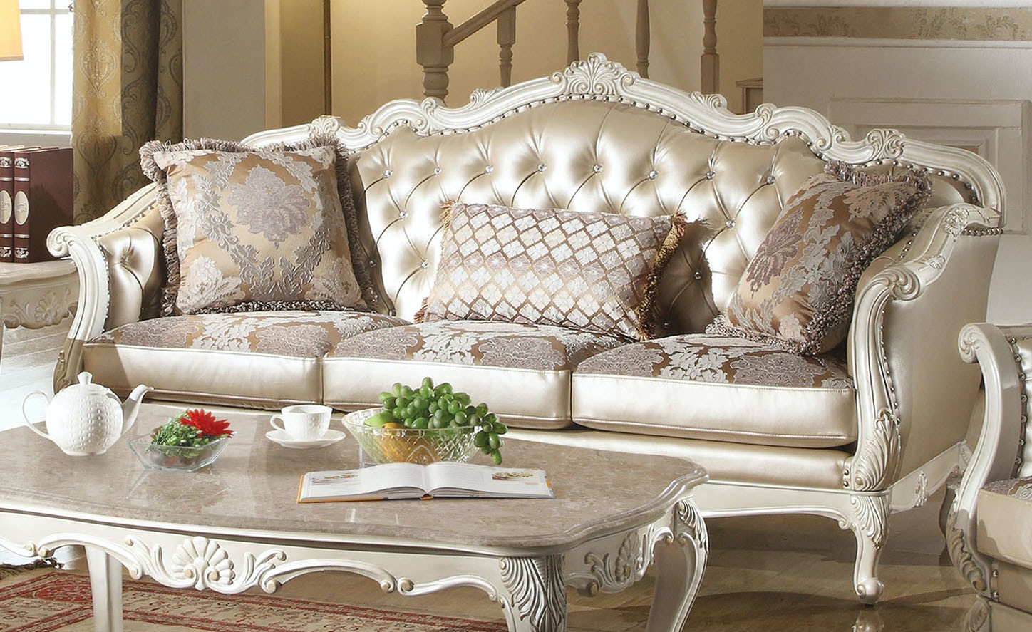 Nice Acme Furniture Living Room Chantelle Sofa With 3 Pillows