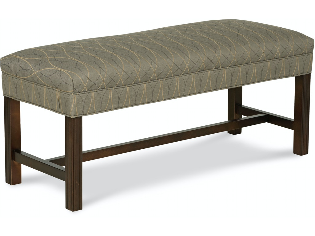 Fairfield Chair Company Living Room Dwight Bench 1643 10 Hickory Furniture Mart Hickory Nc