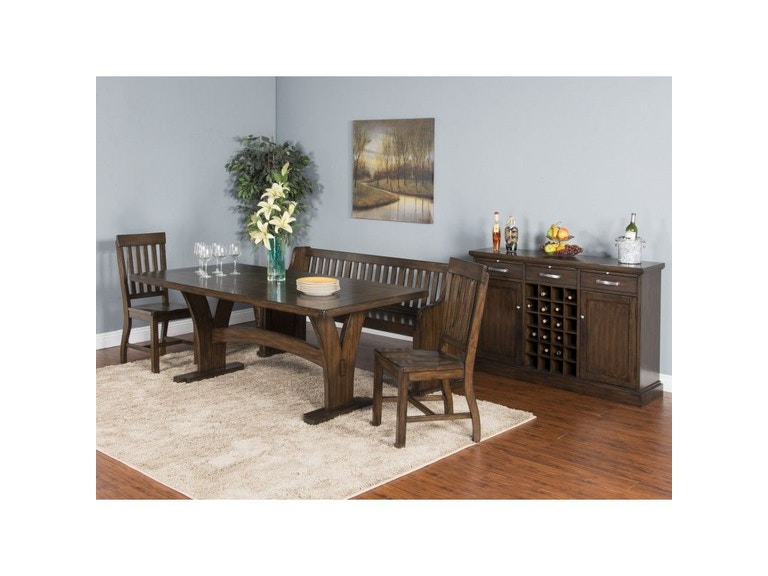 Sunny Designs Dining Room Lancaster Trestle Table 1027rc Simply Discount Furniture Santa