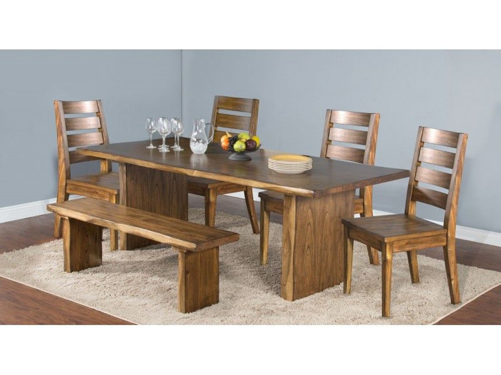 Sunny designs dining room carey live edge table 1046nw for Outdoor furniture kansas city