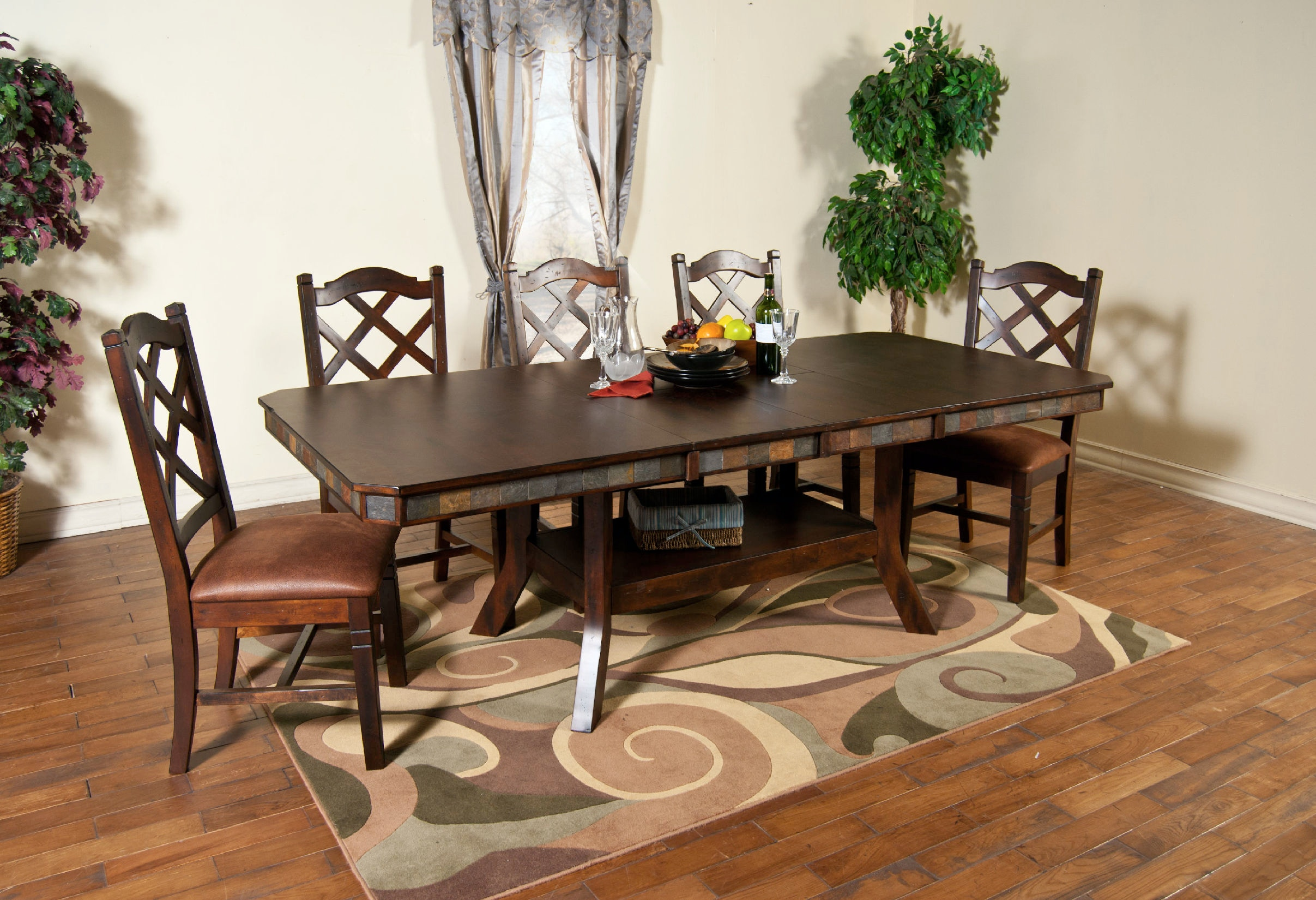 signature design by ashley hayley dark brown dining room extension table: extension table f