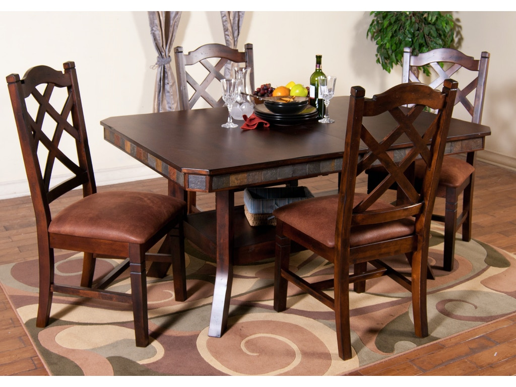 Sunny Designs Dining Room Santa Fe Double Crossback Chair 1415dc Norwalk Furniture Gallery