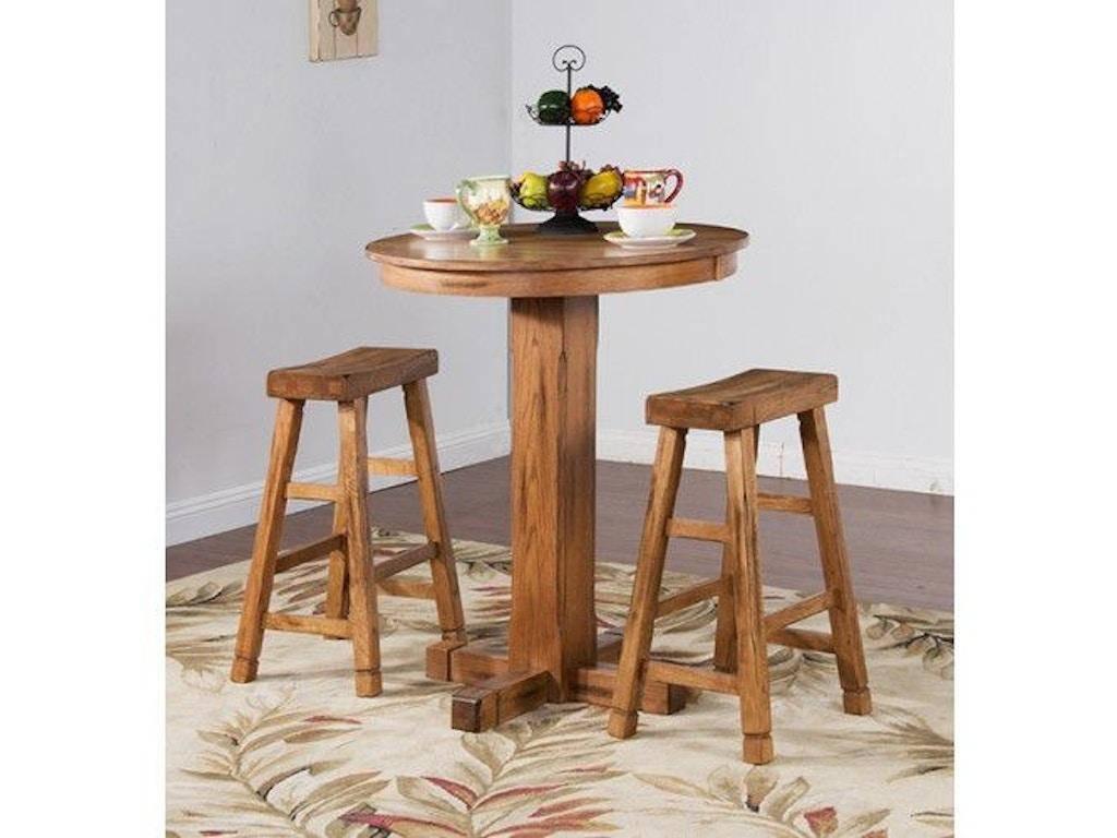 Sunny designs bar and game room sedona pub table 36 rx42 for Design source furniture az