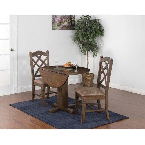 Sunny Designs Dining Room Savannah Drop Leaf Table