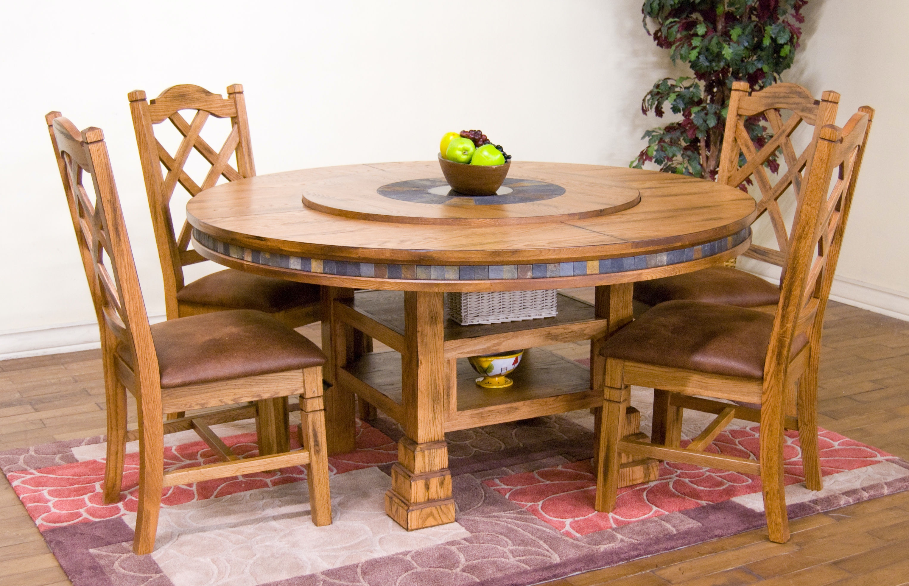 Sunny Designs Sedona Round Table With Lazy Susan 1225RO