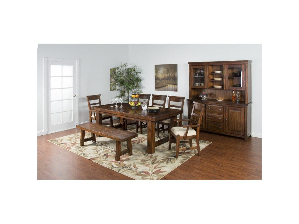 Sunny designs dining room tuscany extension table 1316vm for Design tuscany