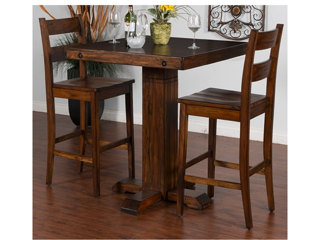 Sunny Designs Bar And Game Room Tuscany Pub Table 1377VM