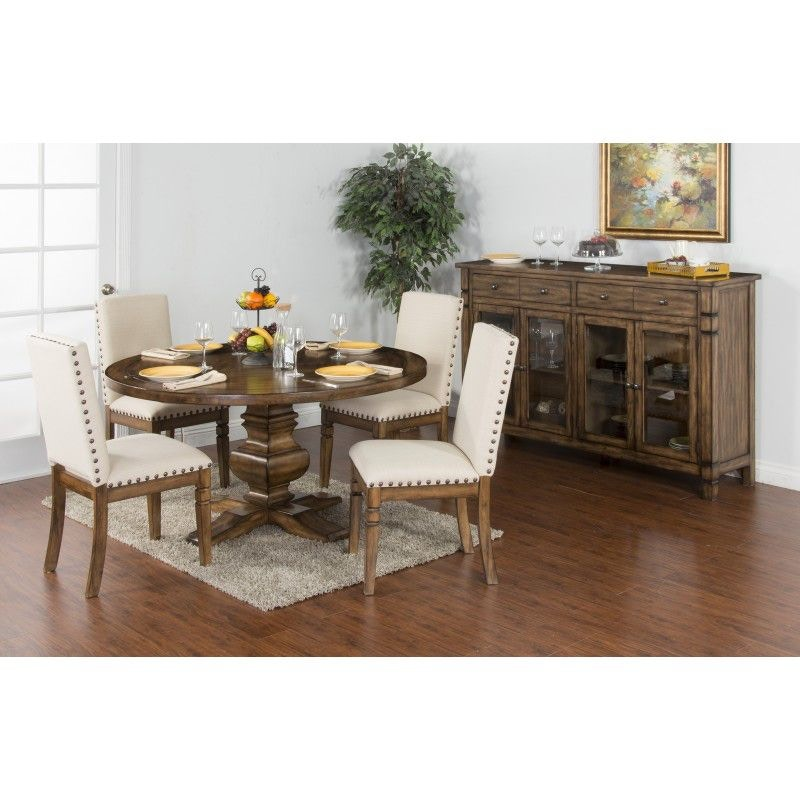 Sunny Designs Dining Room Cornerstone Round Table 1395BM At Siker Furniture