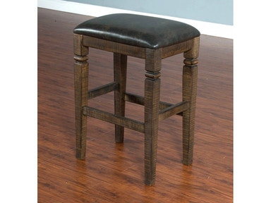 "Sunny Designs Homestead 30"" Backless Stool 1430TL-30"