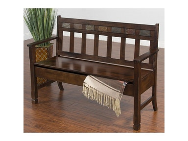 Santa Fe Deacons Bench With Storage
