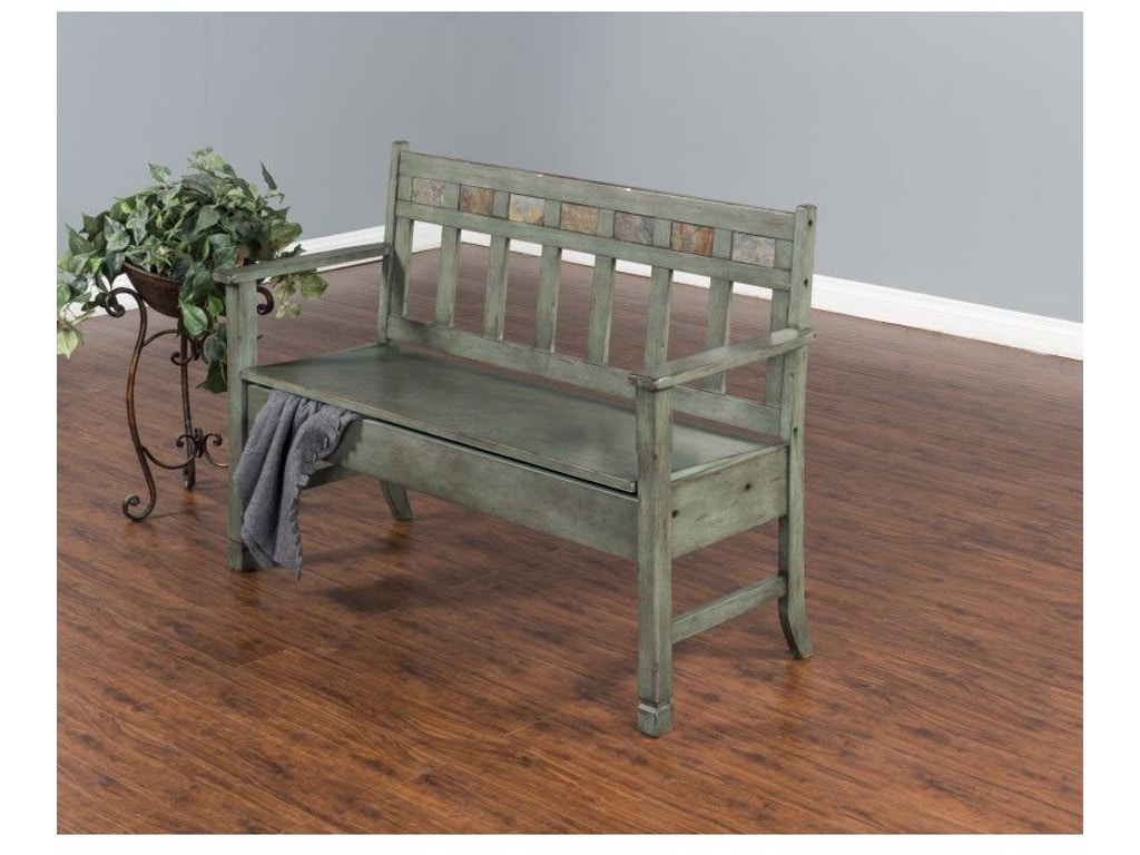 Sunny designs living room green bench 1594gn factory direct furniture hutchinson mn for Factory direct living room furniture