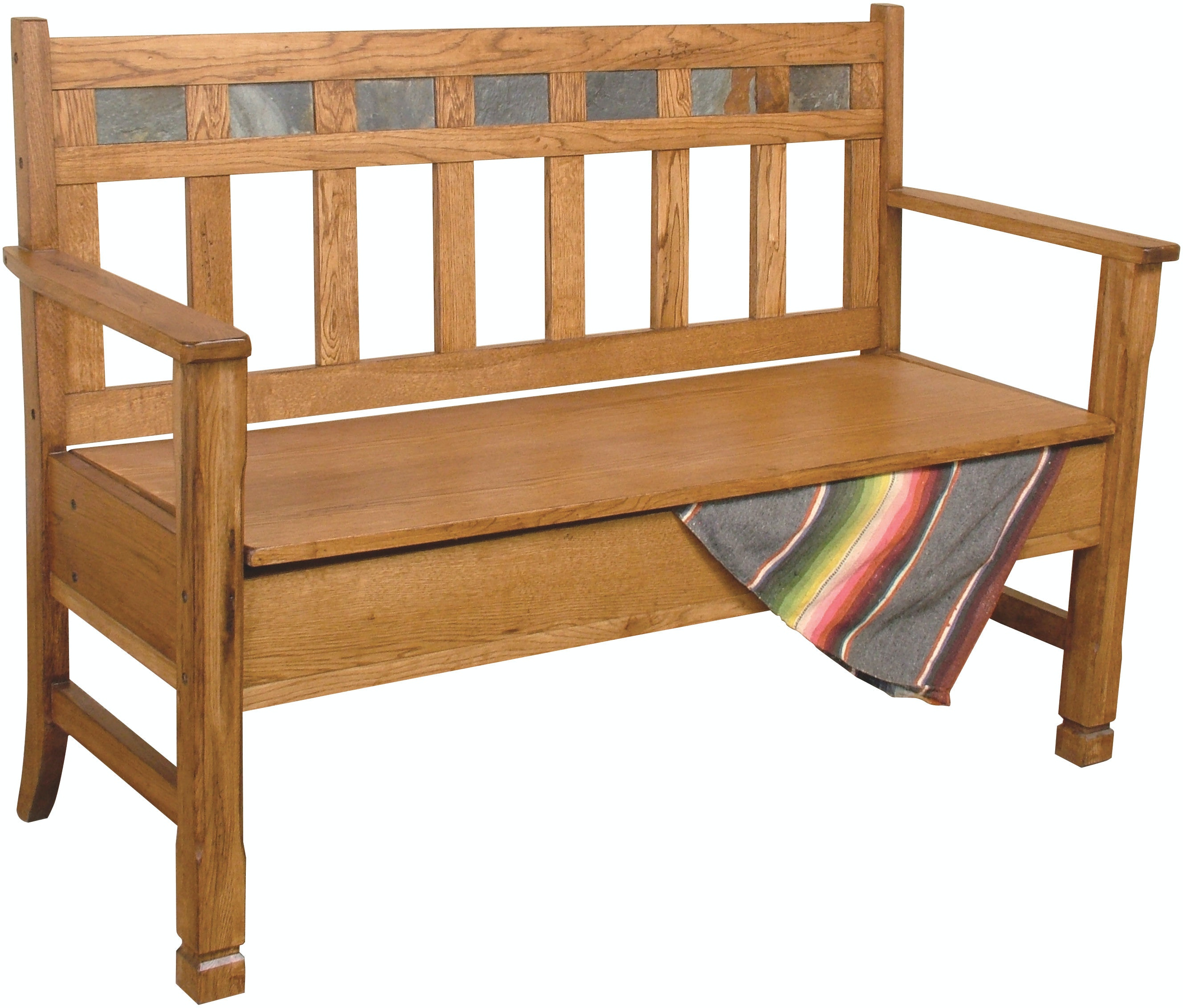 Sunny Designs Living Room Sedona Bench With Storage Wooden