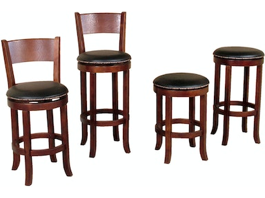 "Sunny Designs Cappuccino Swivel Backless 24"" Barstool 1782CA"