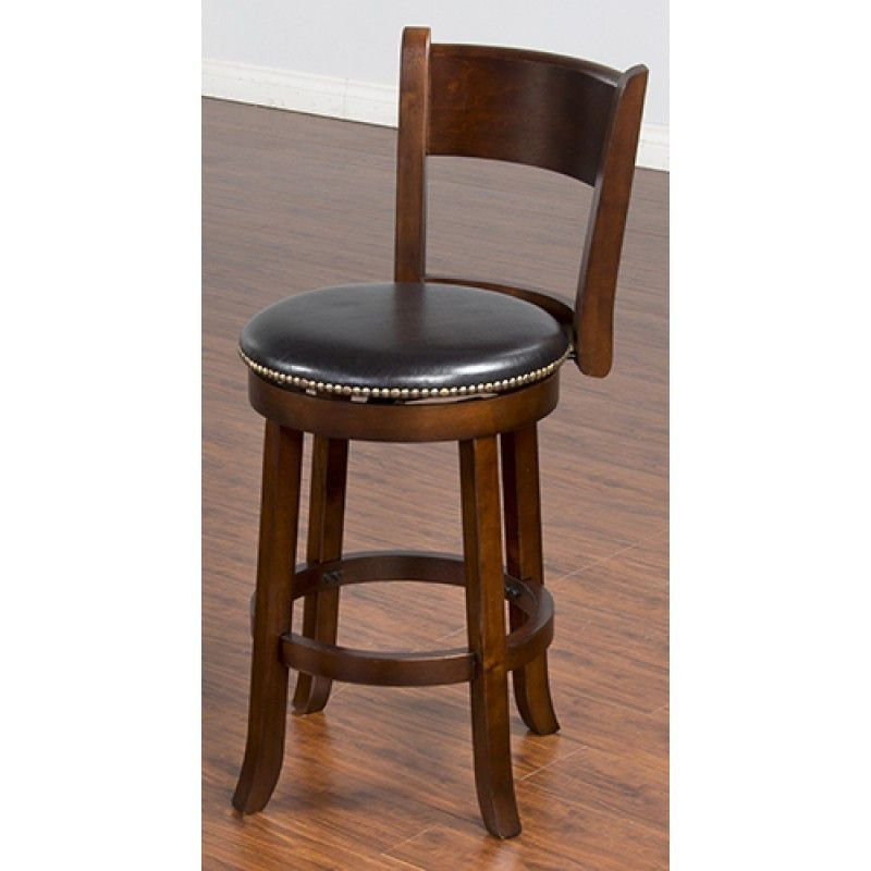 Sunny Designs Bar And Game Room Cappuccino Swivel 24 Barstool With