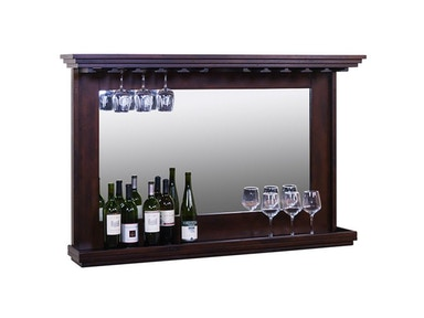 Hanging Backbar With Mirror And LED Light