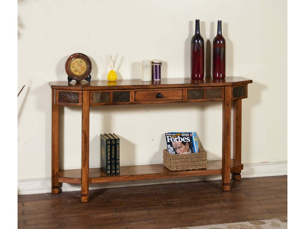 Sunny Designs Living Room Sedona Entry Console 2224ro Tip Top Furniture Freehold Ny