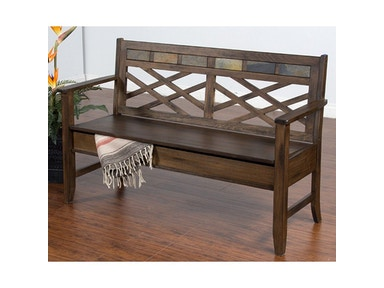 Sunny Designs Savannah Bench With Storage 2276AC