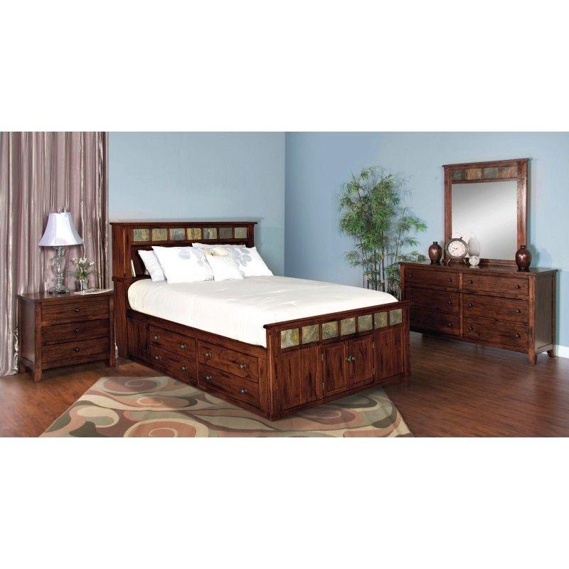 Sunny Designs Bedroom Santa Fe Queen Storage Bed