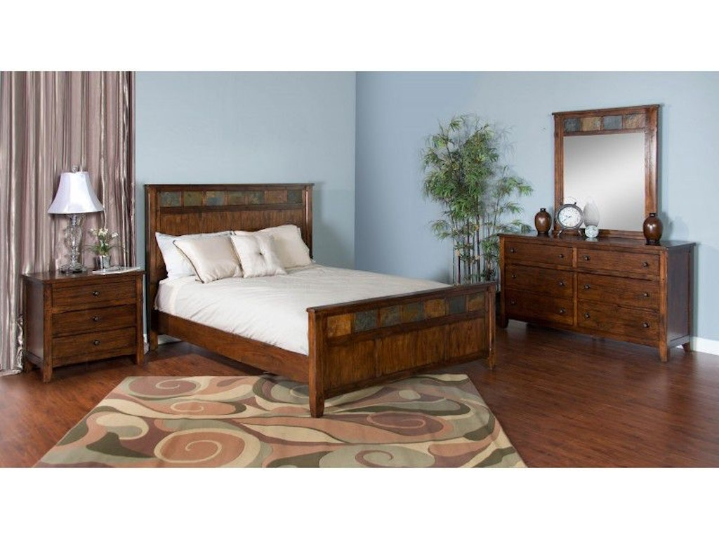 Sunny designs bedroom santa fe petite queen panel bed 2334dc q tip top furniture freehold ny for Sunny designs bedroom furniture