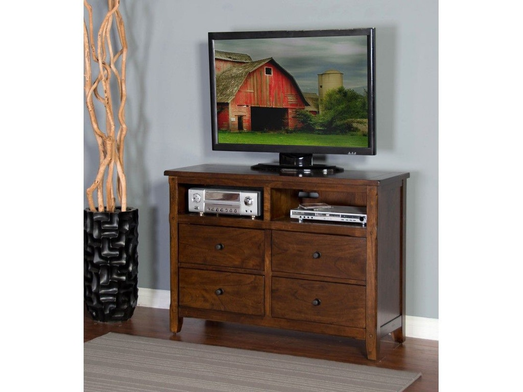 Sunny Designs Bedroom Santa Fe Petite Media Chest 2334dc Mc Valley Furniture Company Havre Mt