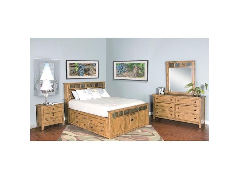 Sunny Designs Bedroom Sedona Queen Storage Bed 2334ro Sq