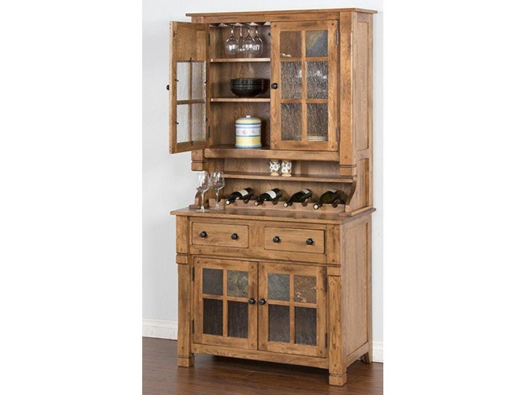 Sunny Designs Dining Room Hutch Buffet 2pc Set 2412RO
