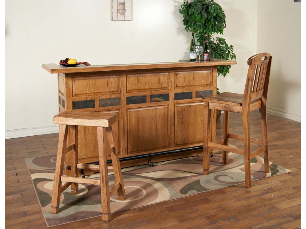 Sunny Designs Bar And Game Room Sedona 78 Bar With Rail 2575ro Seaside Furniture Toms River