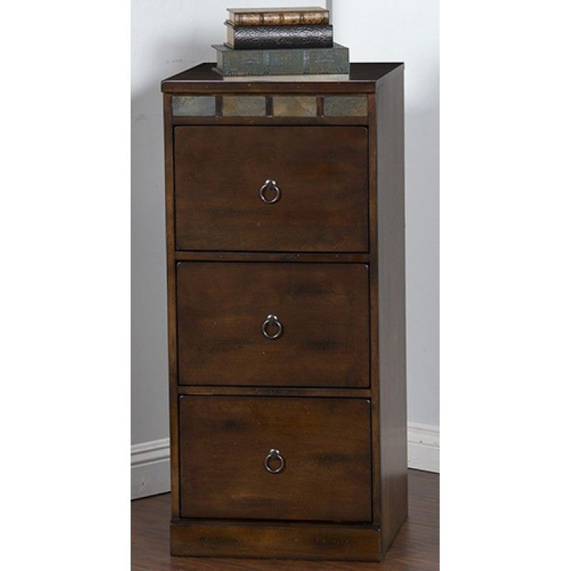 Sunny Designs Home Office Santa Fe 3 Drawers File Cabinet 2863DC ...