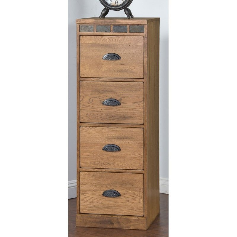 Sunny Designs Home Office Sedona 4 Drawers File Cabinet