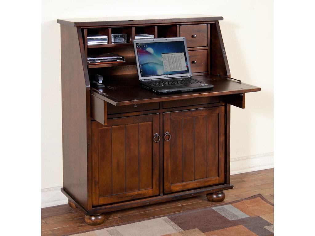 Sunny designs home office santa fe dropleaf laptop desk for Santa fe designs