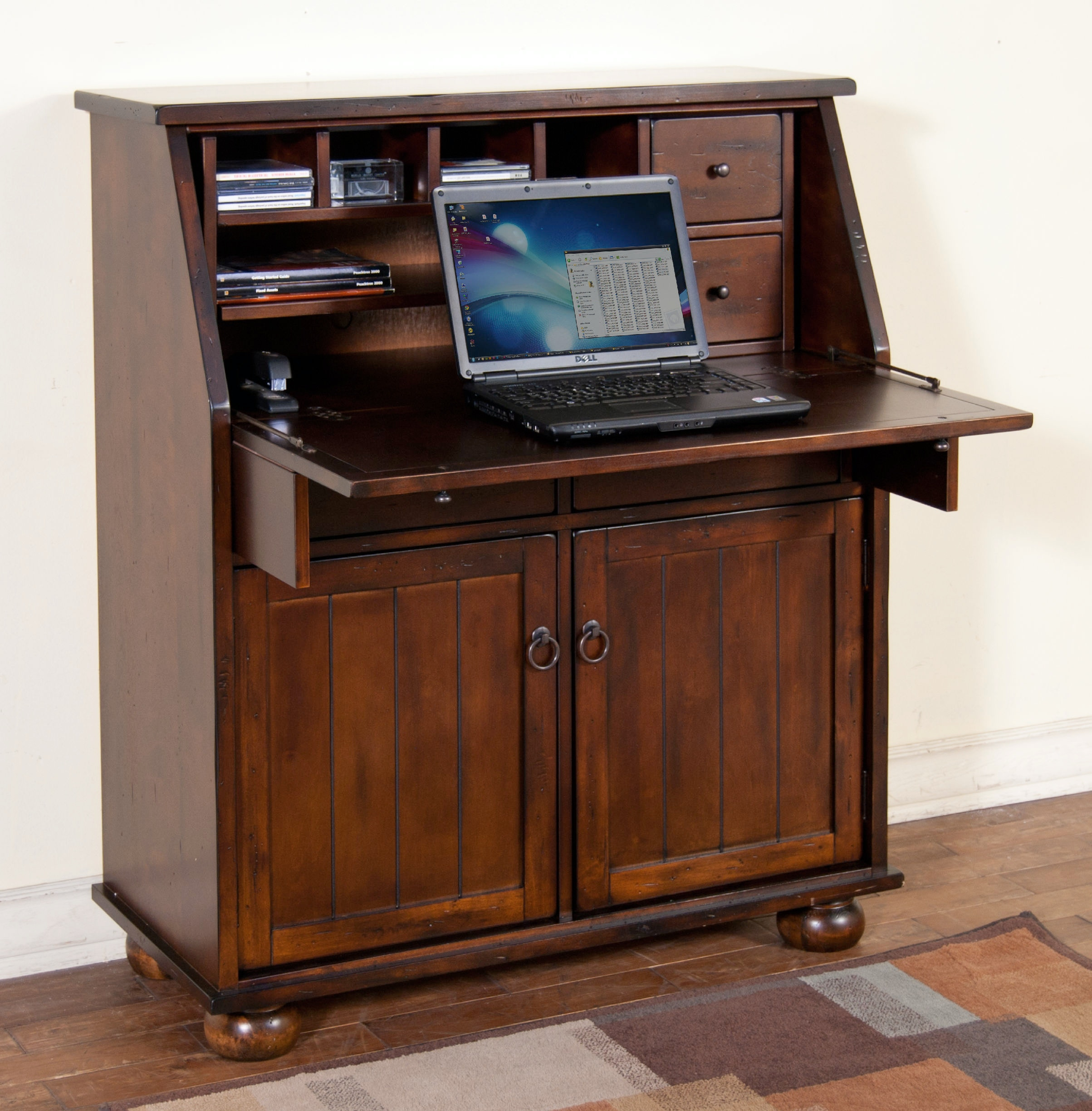 Sunny Designs Home Office Santa Fe Dropleaf Laptop Desk