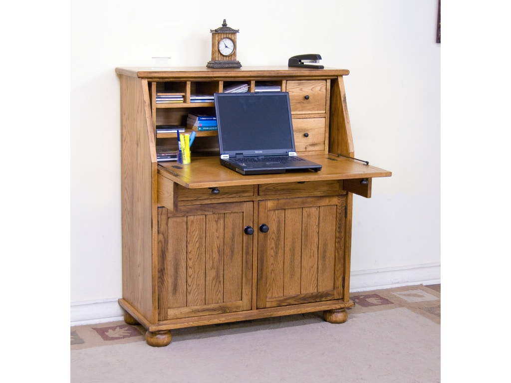 Sunny Designs Home Office Sedona Dropleaf Laptop Desk 2939ro Hatch Furniture Yankton South