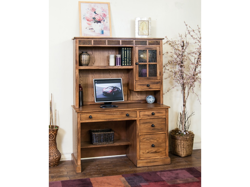 Sunny Designs Home Office Sedona Single Pedestal Desk 2968ro D Hatch Furniture Yankton