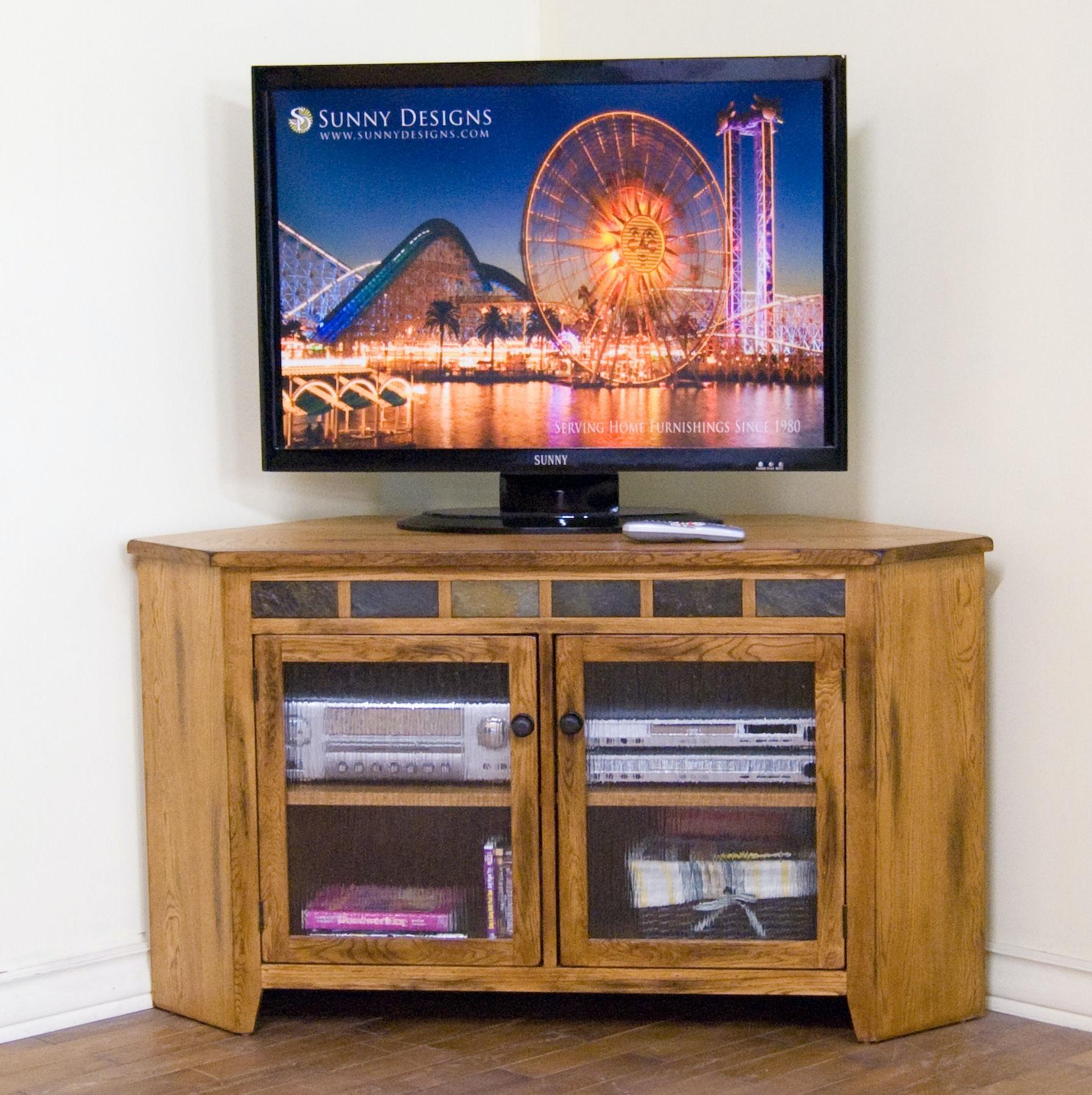 Sunny Designs Home Entertainment Sedona Corner Tv Console