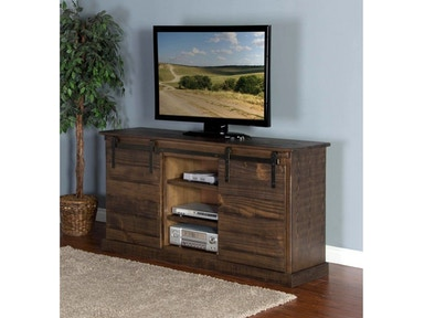 Tobacco Leaf Barn Door TV Console