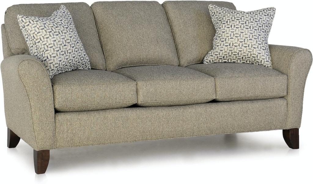 Smith Brothers Living Room Three Cushion Sofa 344 10