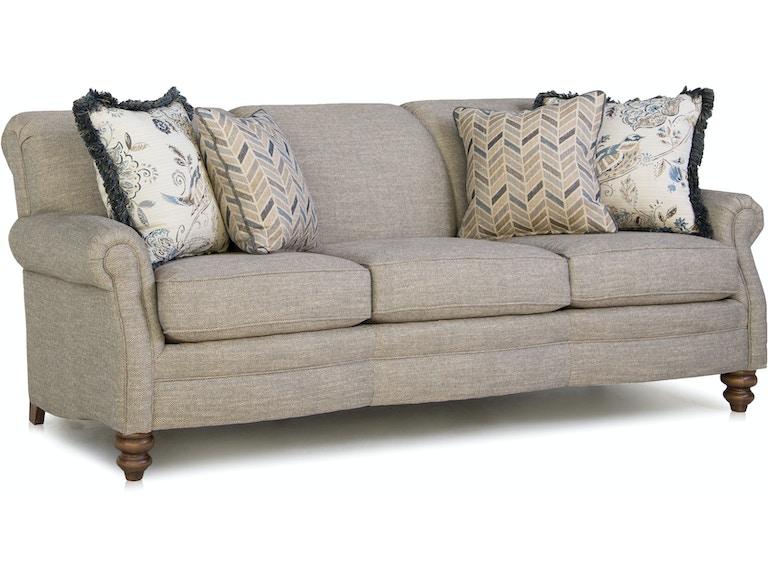 Smith Brothers Living Room Three Cushion Sofa 383-10