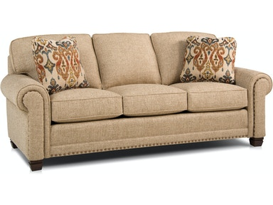 Smith Brothers Living Room Three Cushion Sofa 393-10 - Custom Home ...