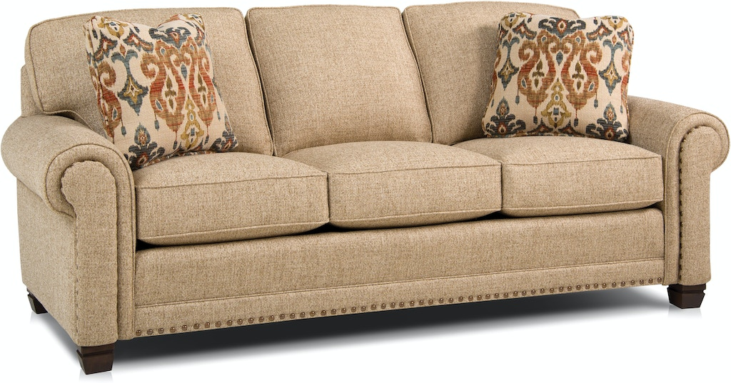 Smith Brothers Living Room Three Cushion Sofa 393 10