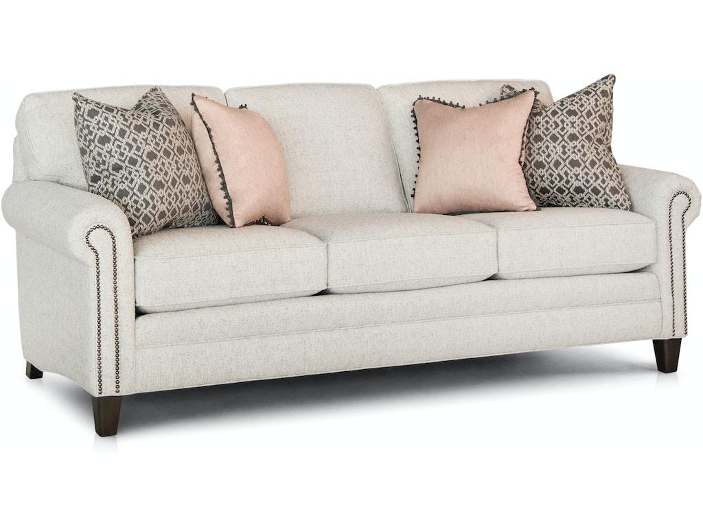 Smith Brothers Living Room Three Cushion Sofa 395-10