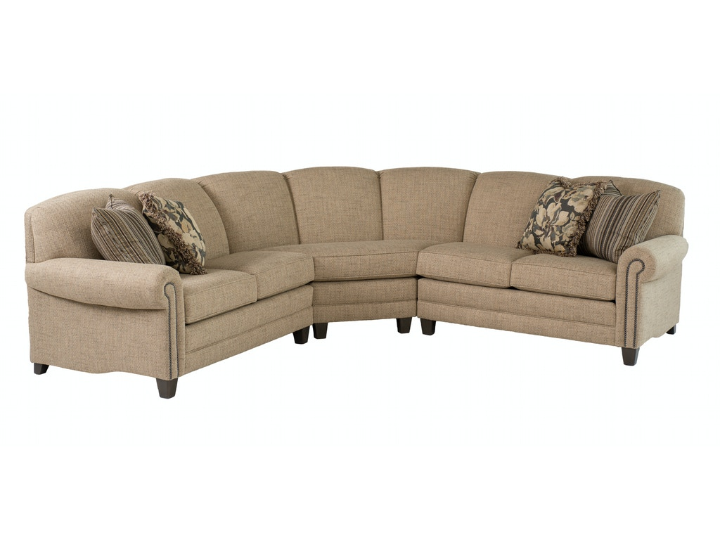 Smith Brothers Living Room 397 Sectional Whitley Furniture Galleries Raleigh Nc