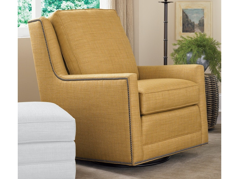 smith brothers living room swivel glider chair 500 58