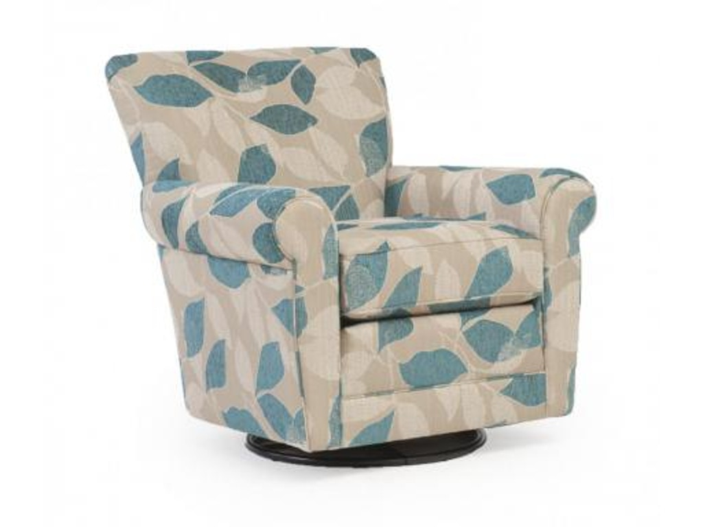 Smith Brothers Swivel Glider Chair 514-58 - Smith Brothers Living Room Swivel Glider Chair 514-58 - Borofka's