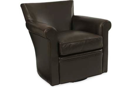 CR Laine Living Room Philippe Leather Swivel Chair L1265SW