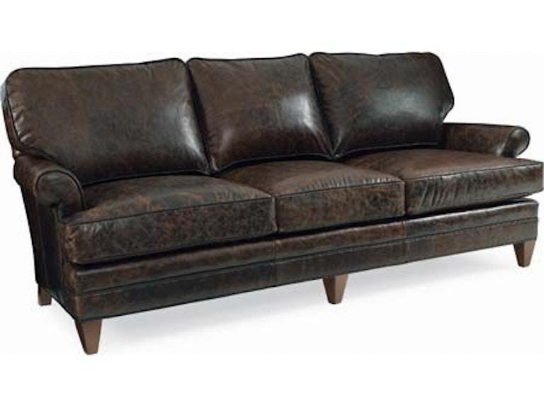 CR Laine Living Room Klein Leather Chair-and-a-Half L4406 ...